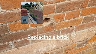 How to replace a brick in a wall (BROKEN BRICKS)