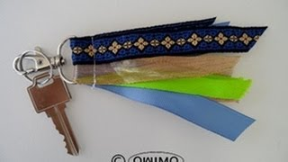 How to make Ribbons into a Key Chain - OWIMO Design Upcycling Thumbnail