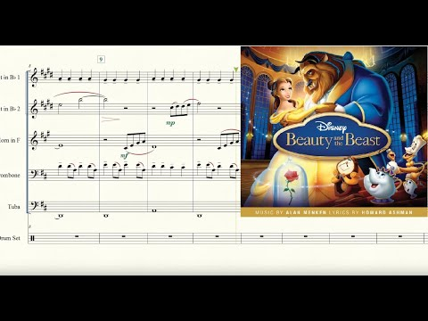 Beauty and the Beast (from Beauty and the Beast) for Brass Quintet Sheet Music
