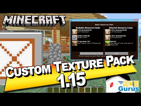 How To Make A Custom Minecraft Texture Pack 1.15 Final Release