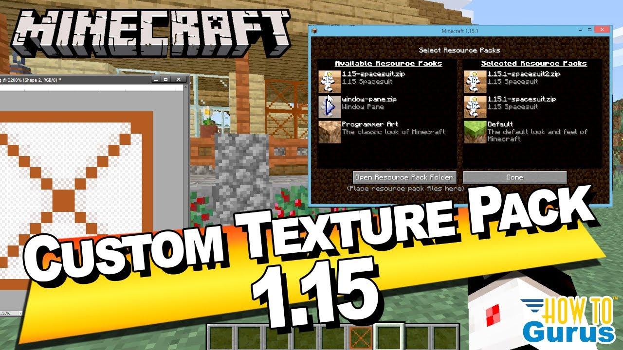 How to Make a Custom Minecraft Texture Pack Tutorial - Minecraft Java  Edition 9.95 9.96