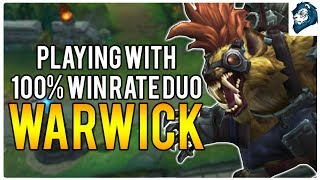 PLAYING WITH 100% WIN RATE DUO? - Climb to Masters | League of Legends