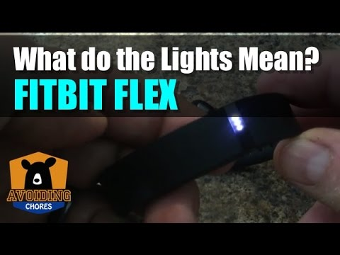 Fitbit Flex What The Light Patterns Mean Youtube