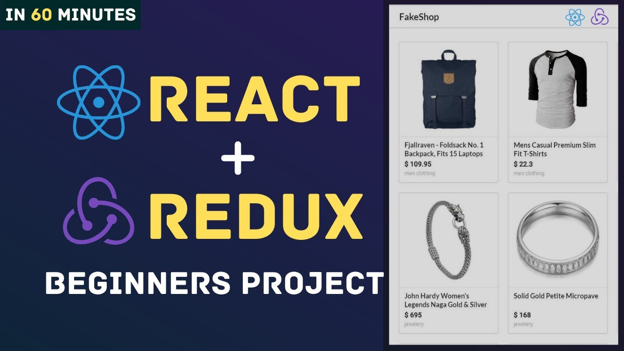 Learn React Redux with Project for Beginners | Redux Axios REST API Tutorial