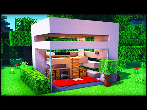 Minecraft Tutorial : How To Build A House - Small Modern Compact House