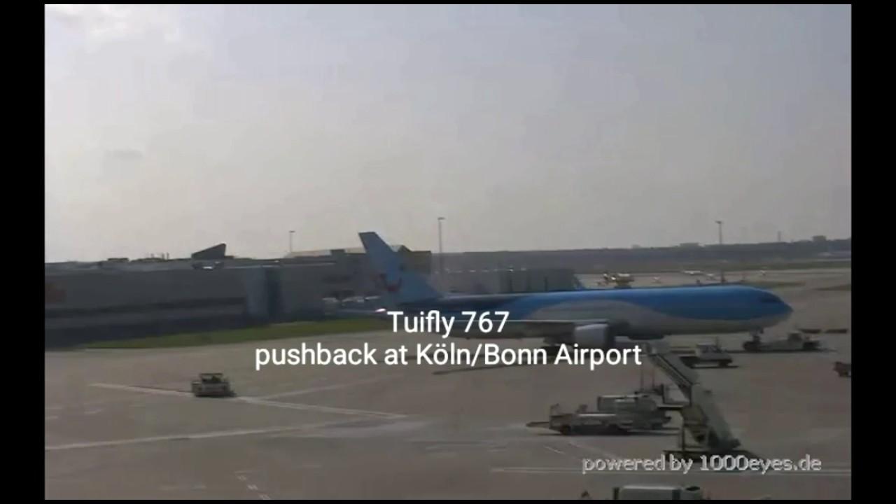 webcam tuifly 767 pushback at k ln bonn airport youtube. Black Bedroom Furniture Sets. Home Design Ideas