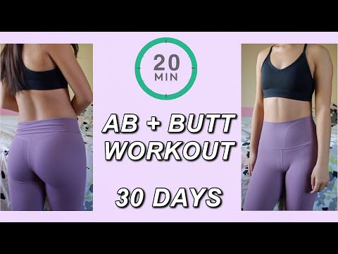 I Tried An Ab + Butt Workout For 30 Days...with RESULTS!!
