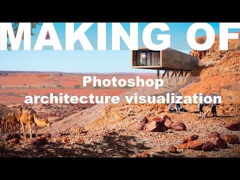 Making Of: Photoshop Architecture Visualization #3 Minimalist desert house