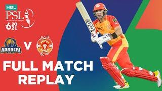 FULL MATCH REPLAY – Karachi Kings Vs  Slamabad United Match 6 HBL PSL 6