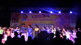 Rahul, Bhargavi dance with Dallas kids for Vastu Bagunde from Dhammu at DATA Dasara on Sep 20th