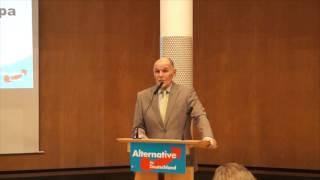 AfD Frankfurt - Wahlkampfauftakt - Horst Reschke zur Sicherheitspolitik in Deutschland