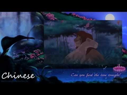 The Lion King 3 - Can you feel the love tonight? (Two Line Multilanguage)