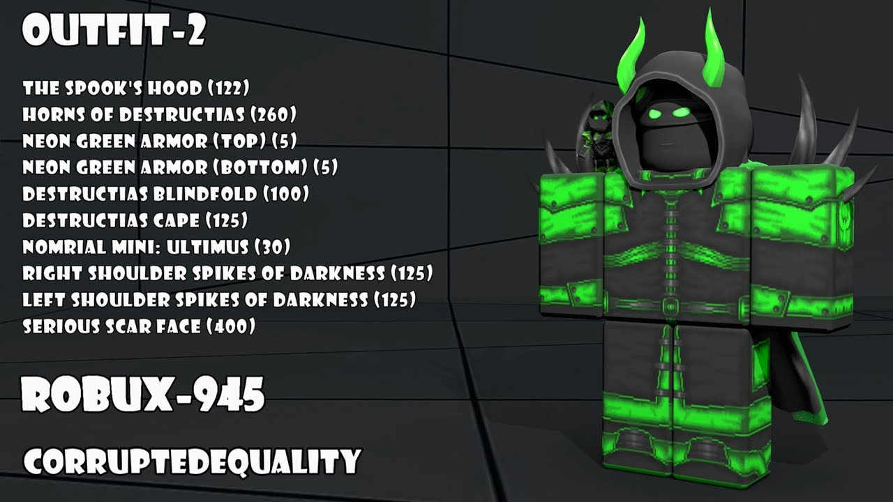 30 Roblox Dark Outfits 1 Youtube
