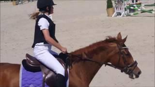Birthe Dilliën en Urlina proef 70 cm paarden 26-5-2017