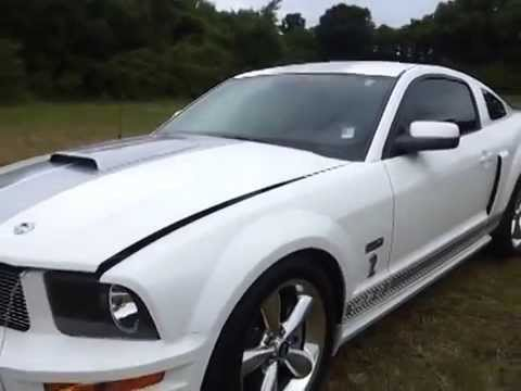 Sold 2007 Shelby Gt Mustang Coupe White Grey Stripe