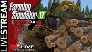 LiveStream: 11/12 Farming Simulator 17 | Forestry on Pacific Inlet Logging Map