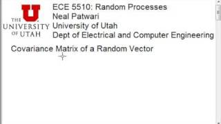 Covariance Matrix Of a Random Vector