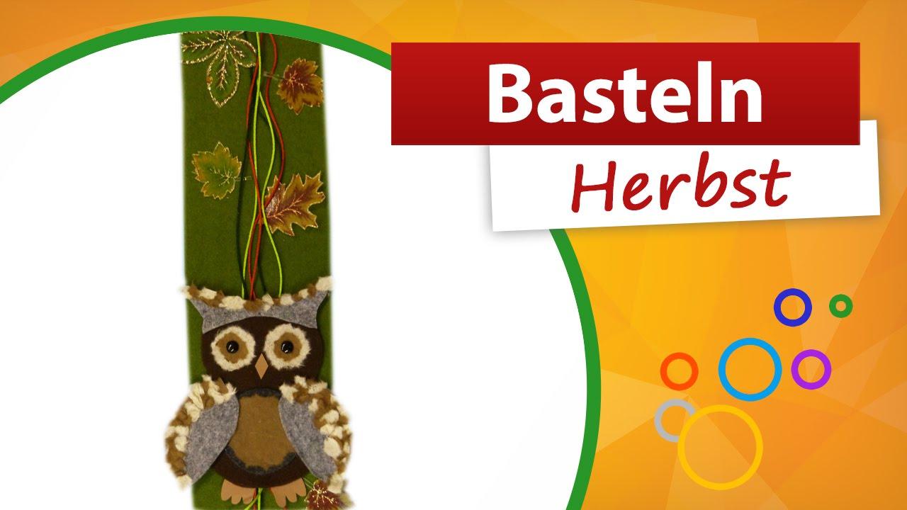 Bastelideen herbst trendmarkt24 eule basteln filz for Bastelideen kindergarten herbst