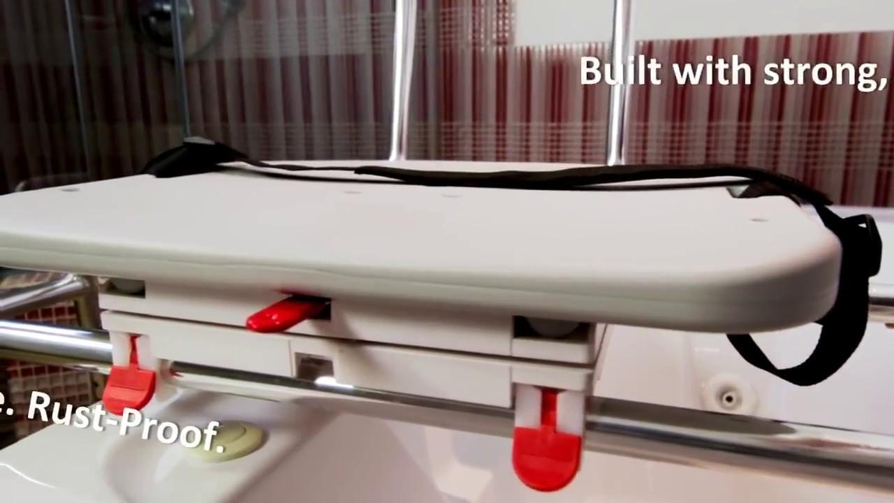 Swivel Sliding Bathtub Shower Transfer Bench 77662 Review - YouTube