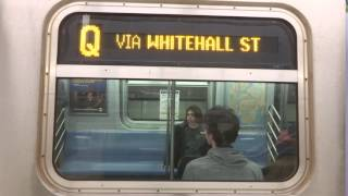 NYC Subway First Look: R160 (Q) Exterior Destination Sign To 96th Street-2nd Avenue (VIA Whitehall)