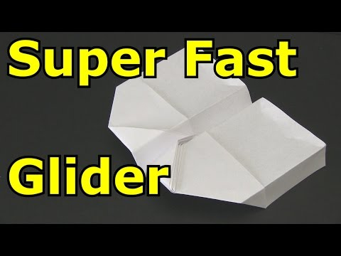 How to Make a Paper Airplane - Super Fast Glider