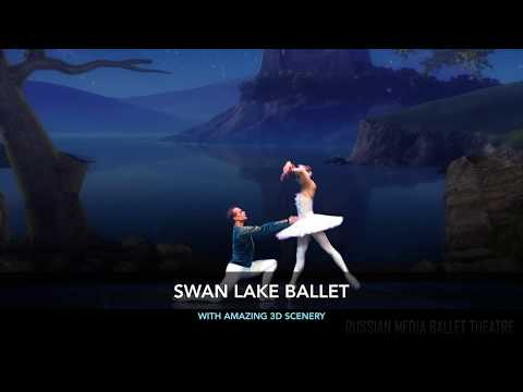 THE SWAN LAKE ballet with 3D decorations - 6sec promo
