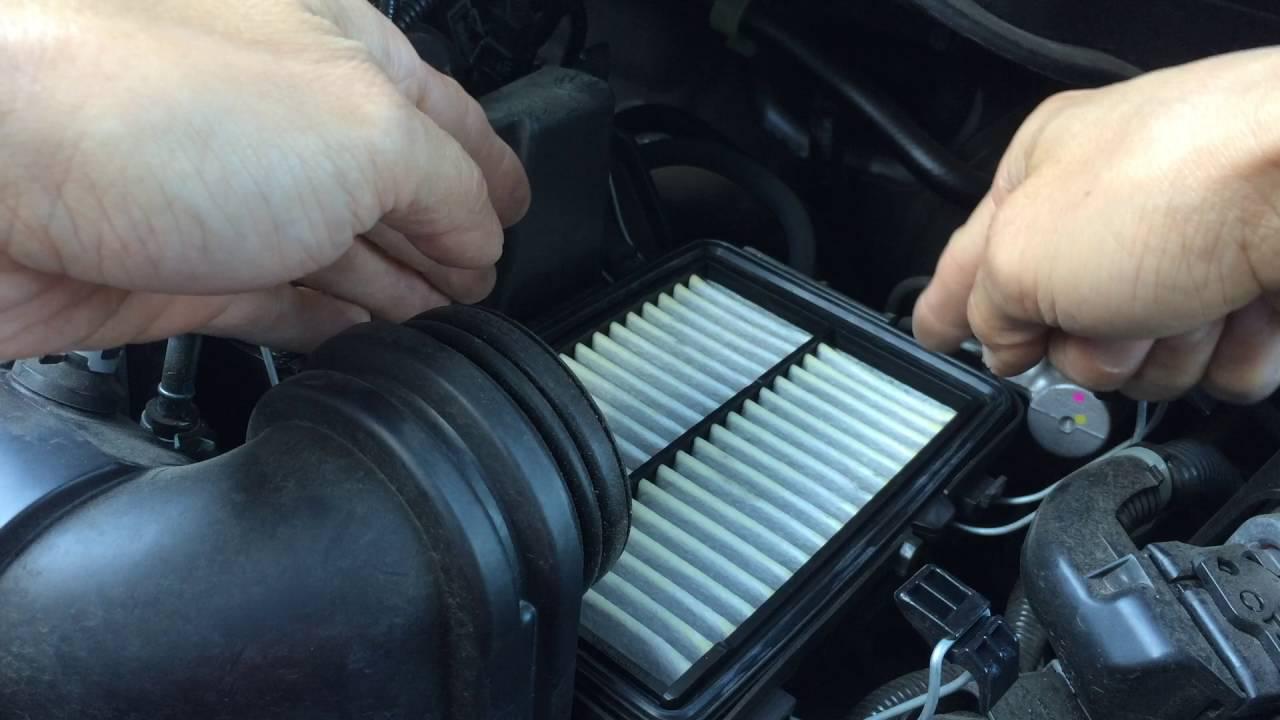 2015 honda fit engine air filter replacement [ 1280 x 720 Pixel ]