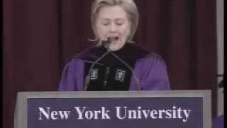 Secretary Clinton Delivers 2009 NYU Commencement Address