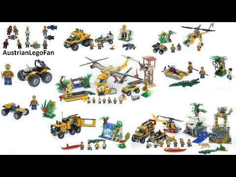 All Lego City Jungle Exploration Sets 2017 - Lego Speed Build Review