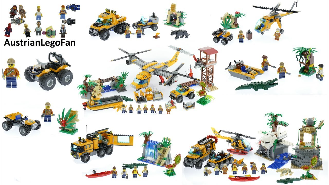 All Lego City Jungle Exploration Sets 2017 Lego Speed Build Review