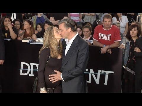 Ray Stevenson and Pregnant Elisabetta Caraccia DIVERGENT World Premiere Arrivals