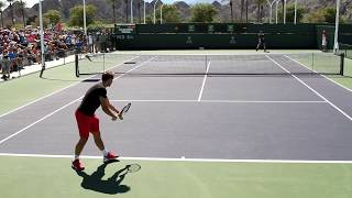 Andy Murray And Stan Wawrinka Practice Set 2017 BNP Paribas Open