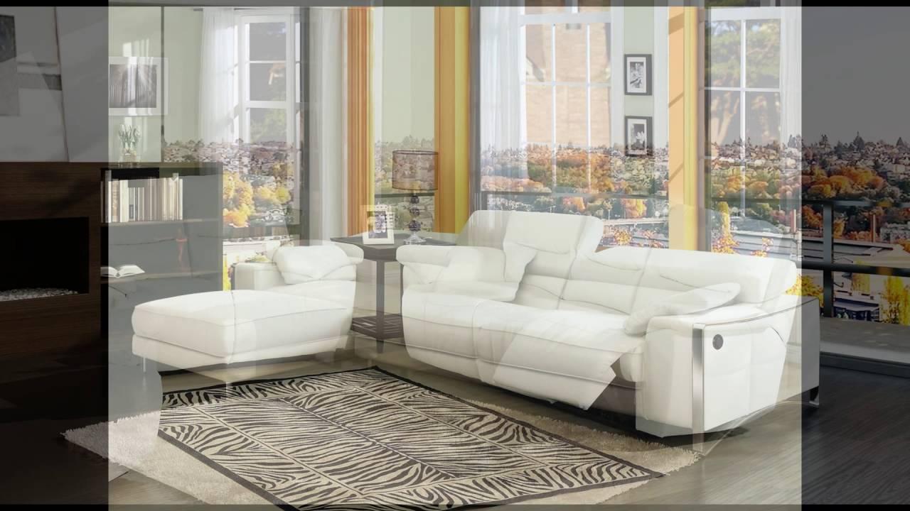 white leather sofa chair