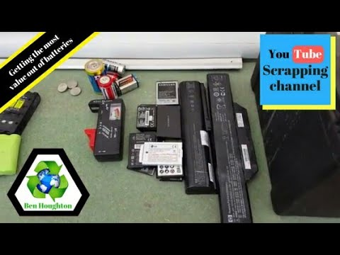 getting the most value out of batteries when scrapping