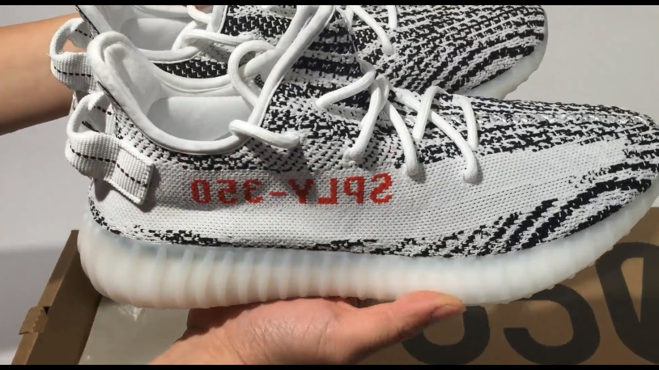 e893b1419 Yeezy 350 V2 Boost SPLV ZEBRA Unboxing Review - YouTube
