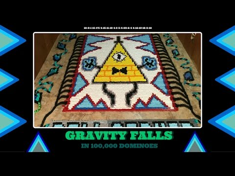 Gravity Falls - In Dominoes (100,000 Dominoes!)