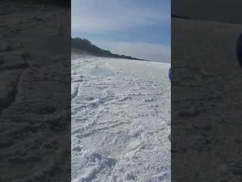 Mar congelado em massachusetts Estados unidos incrivel !!!