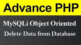 Delete Data from Database MySQLi Object Oriented in PHP (Hindi)