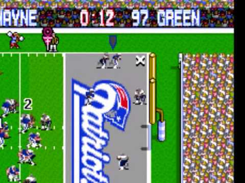 Peyton Manning to Reggie Wayne to beat the Patriots...According to Tecmo Super Bowl
