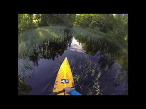 Floating in Hurum ( stand up paddling)