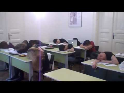 We are hard working students at Prague College