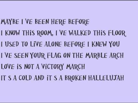 Hallelujah-Rufus Wainwright Lyrics - YouTube Hallelujah Lyrics