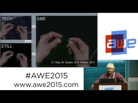 Steve Feiner (Prof. Columbia University) - AR for remote collaboration at AWE 2015