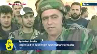 Hezbollah TV channel screens footage of alleged Israeli airstrike site in Syria