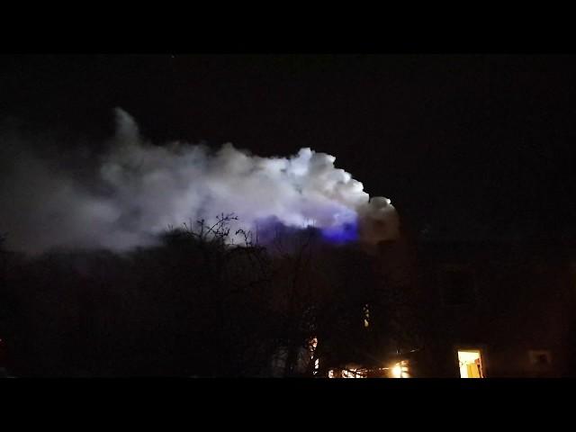 Pożar komina w Pelplinie - 24.02.2020