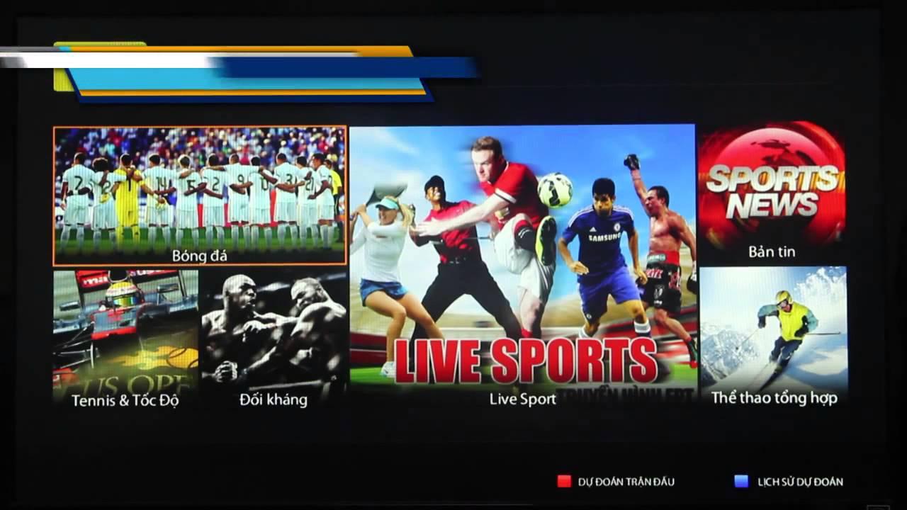 Truyền hình FPT - Hướng dẫn xem thể thao trực tiếp Live Sport