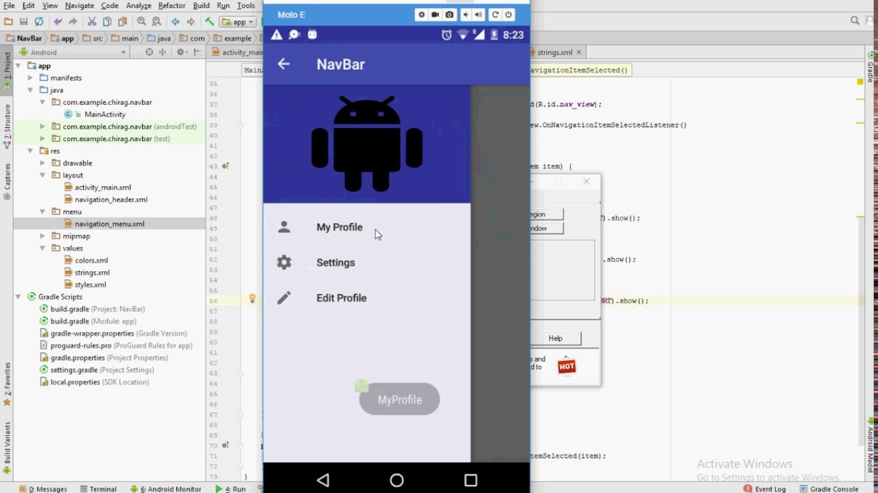Android Navigation Drawer Hello Guys This Post Talks About By Abdul Kadir Quick Code Medium