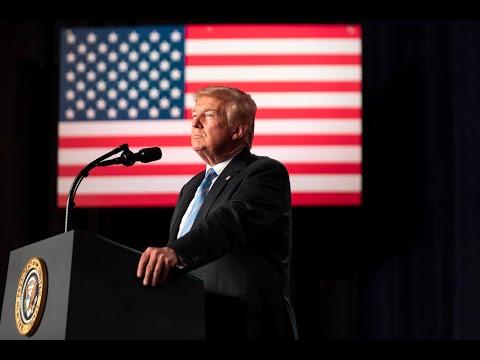 President Trump Delivers Remarks at Naval Station Norfolk Send Off for USNS Comfort