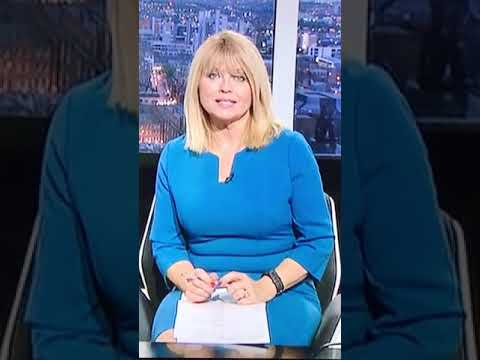 Christine Talbot sexy blonde milf blue dress