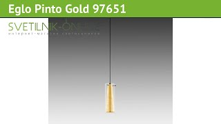 Люстра Eglo Pinto Gold 97651 обзор: светильник Eglo Pinto Gold 97651 60 Вт, где купить